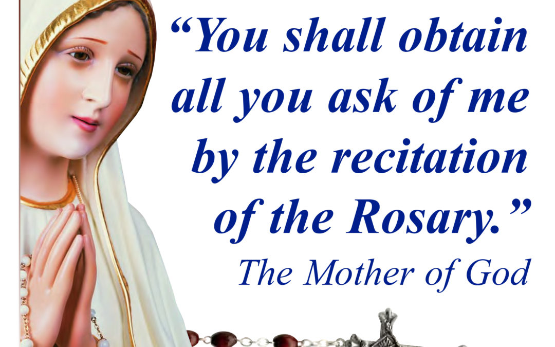 Rosary Rally – October 15th, Noon – at St. Joseph Hall